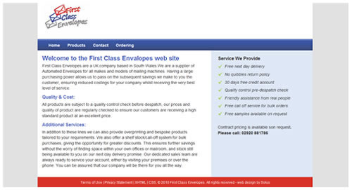 first class envalopes